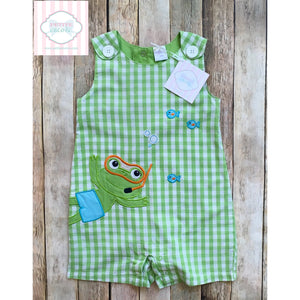 Frog themed one piece 24m