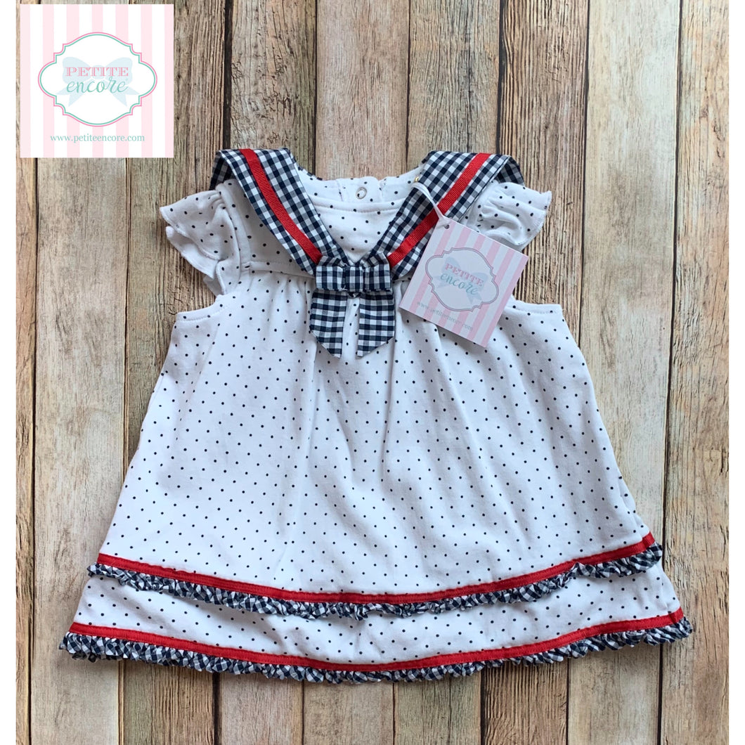 Nautical dress by Little Me 6m