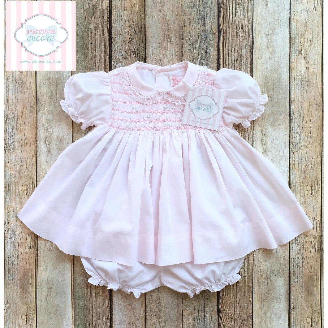 Petit Ami smocked dress NB