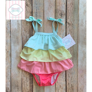 One piece ruffled swimsuit by Gymboree 6-12m