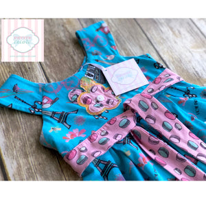 Jelly The Pug Paris themed dress 2T