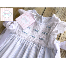 Embroidered dress with bows 18m