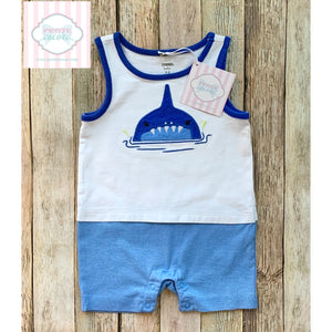 Shark themed one piece by Gymboree 3-6m