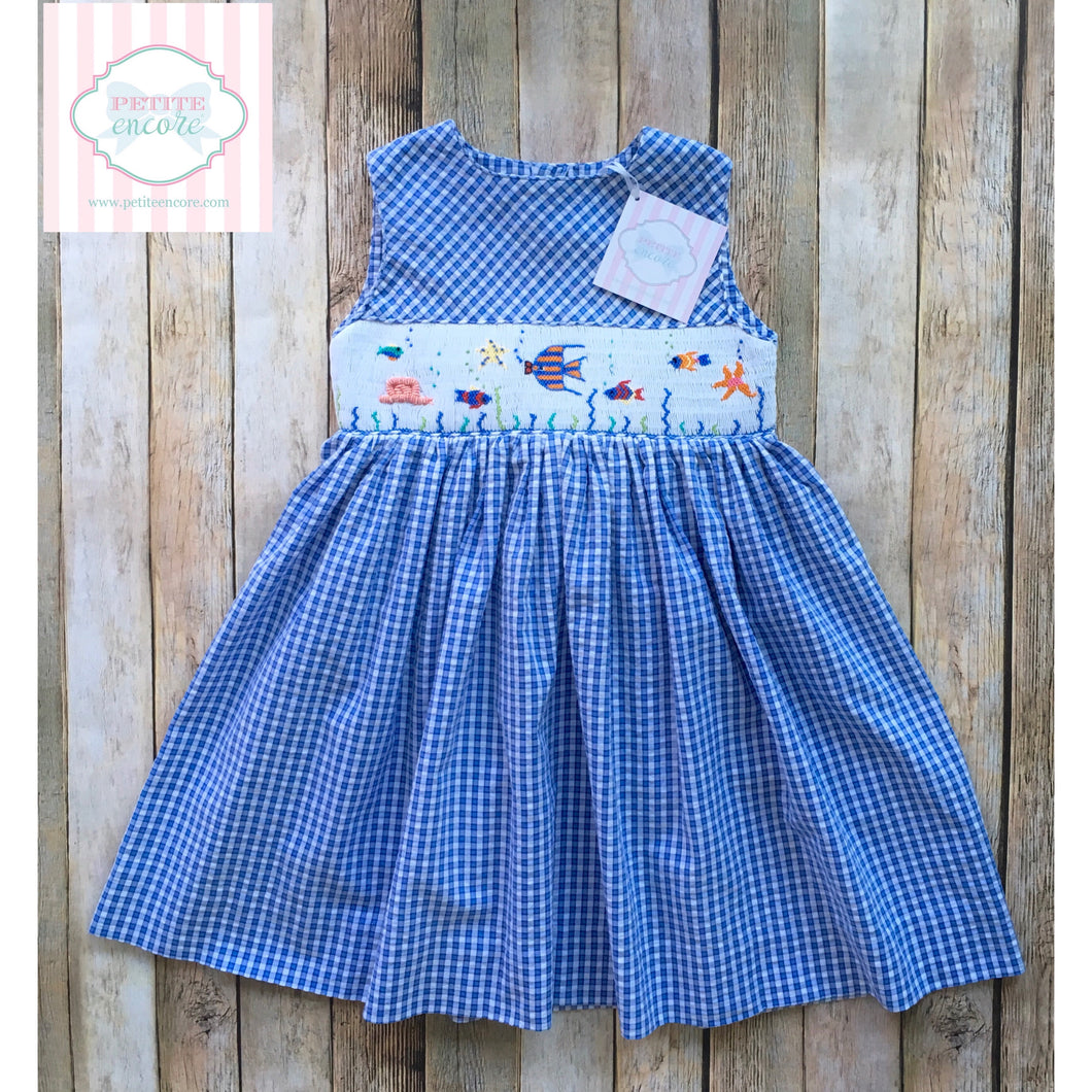 Fish themed smocked dress 3T