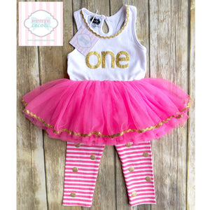 Mud Pie first birthday outfit 12-18m