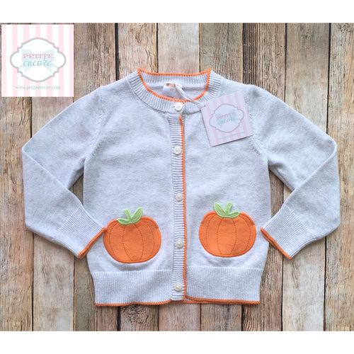 Gymboree pumpkin themed cardigan 2T