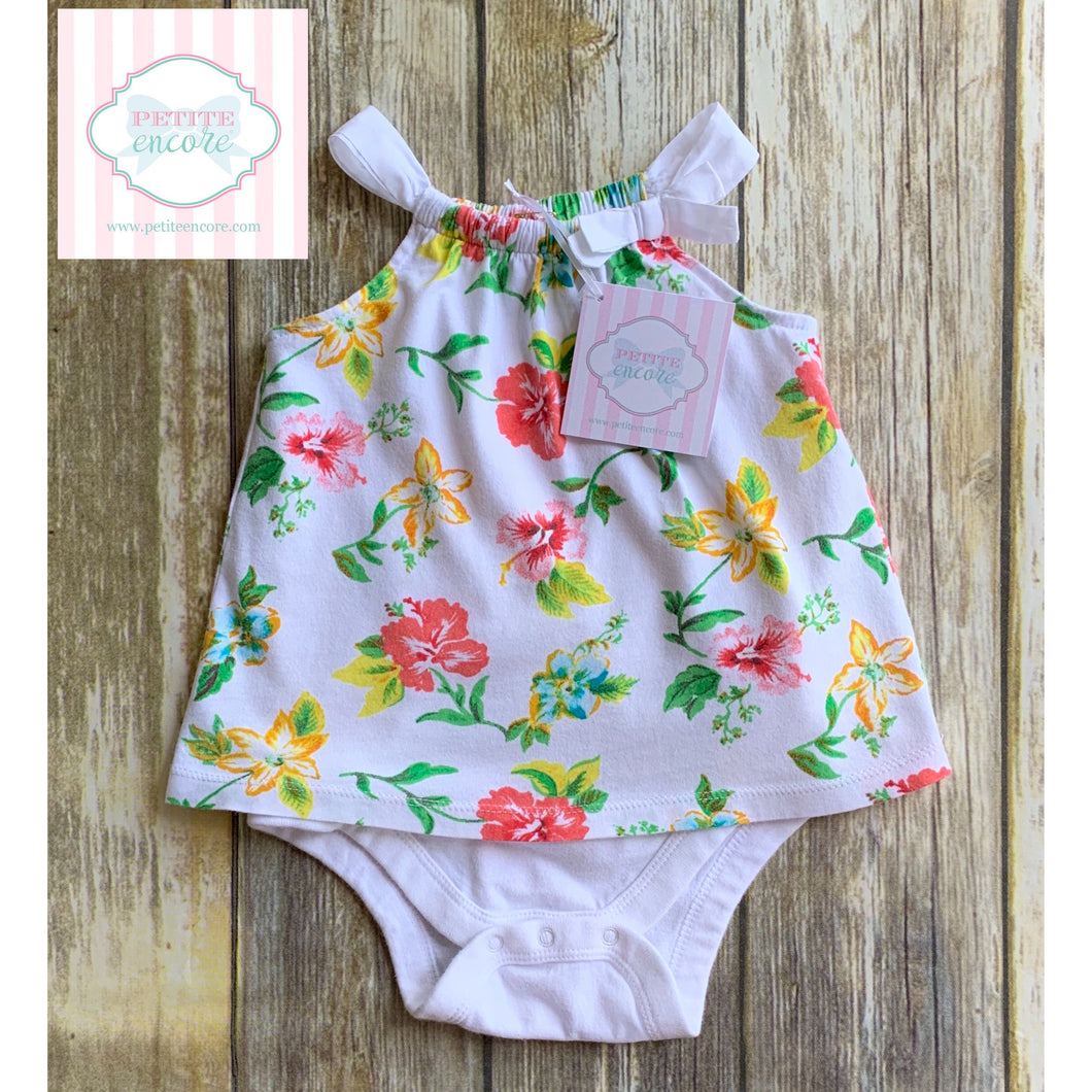 Baby Gap floral bubble 6-12m