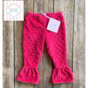 Mud Pie minky pants 12-18m