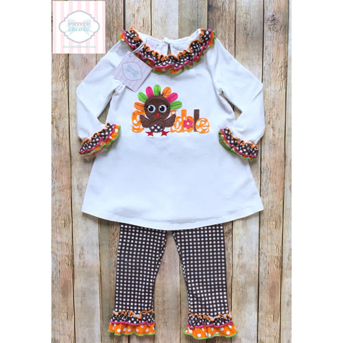 Thanksgiving themed two piece 24m