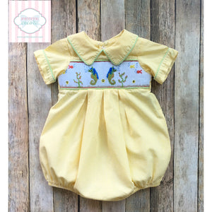 Seahorse themed smocked bubble by 6m