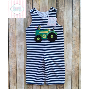 Tractor themed one piece by Castles and Crowns 6-9m