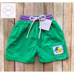 Smocked swim trunks by Five Little Monkeys 2