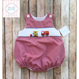Fire truck themed smocked bubble 18m