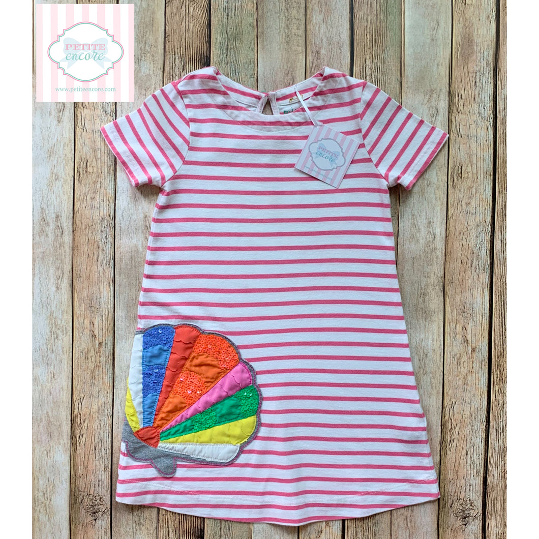 Mini Boden seashell themed dress 4-5