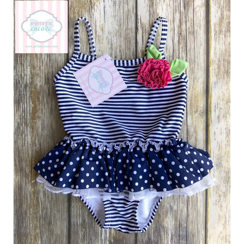 One piece swimsuit by Little Me 12m