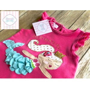 Mud Pie mermaid themed two piece set 24m/2T