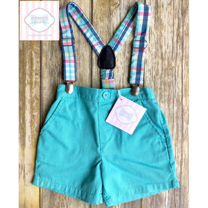 Shorts with suspenders by Nursery Rhyme 12m