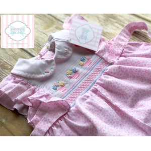 Smocked bubble 6-9m