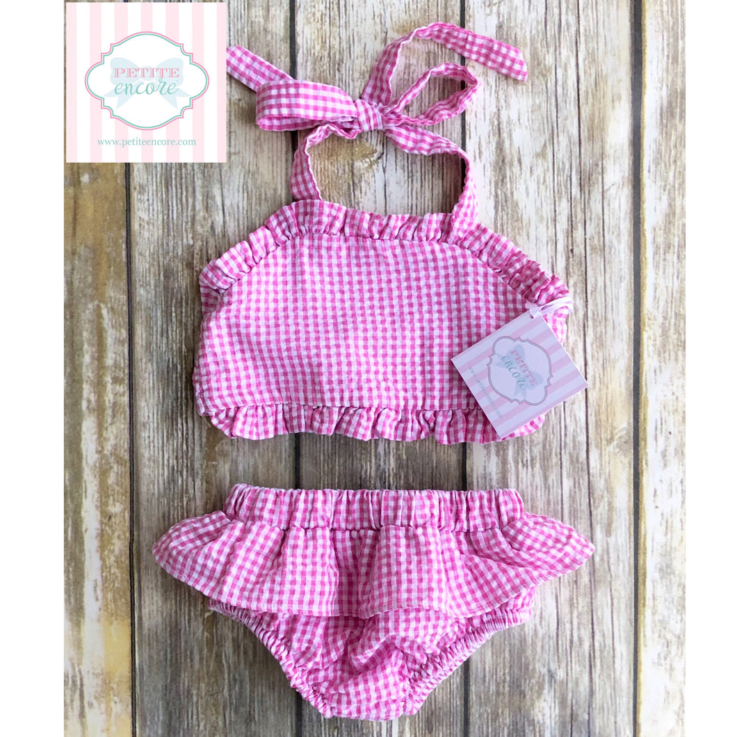 Two piece seersucker swimsuit 2T