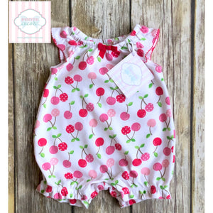 Gymboree cherry themed one piece 0-3m