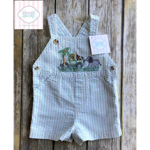 Safari themed overalls 6-9m