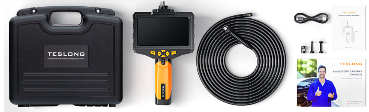 5 inch IPS Inspection Camera - 5000 mAh Rechargeable Battery