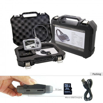NTS150RS Industrial Endoscope with 3.5-inch HD Screen and different types of cameras