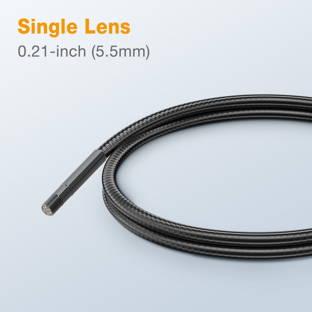 CAM5501/03 Single Lens 0.21-inch (5.5mm ) Diameter Semi-Rigid Borescope Camera/Probe