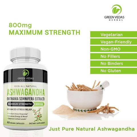 Image of 100% Pure Ashwagandha Natural Extract - Green Vedas