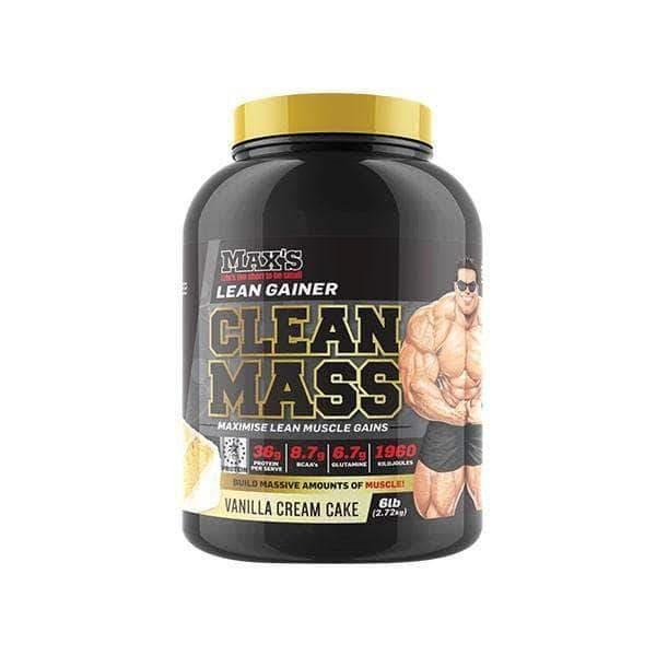 Max's CLEAN MASS Vanilla Cream Cake 4.5kg At Elite Supps