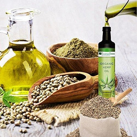 2 BOTTLES HEMP SEED OIL AUSTRALIAN CERTIFIED ORGANIC -500ml-Curavita