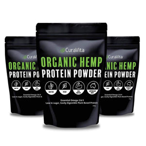 bundle of 3 organic hemp protein pouches