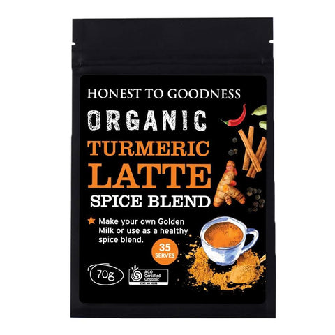 Image of Honest to Goodness, Organic Turmeric Latte Spice Blend, 70g-Curavita