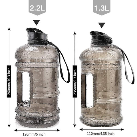 RICWINANN Water Jug 2.2L Large Sport Water Bottle-Curavita
