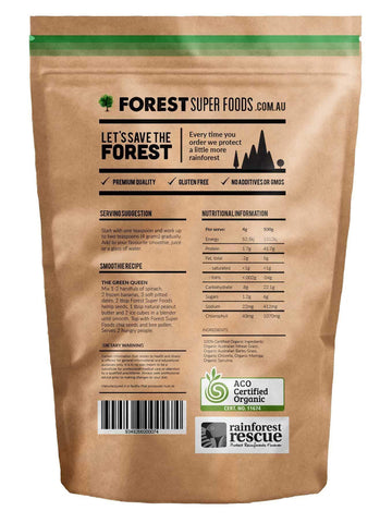 Image of Forest Super Foods #1 Certified Organic Naked Greens 500g (60 day supply)-Curavita