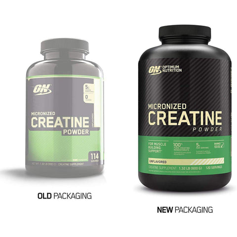 Optimum Nutrition Creatine Powder, Unflavored, 600g-Curavita