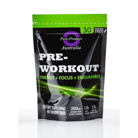 Pure Product Australia Pre-Workout Powder, Watermalon 300 grams-Curavita