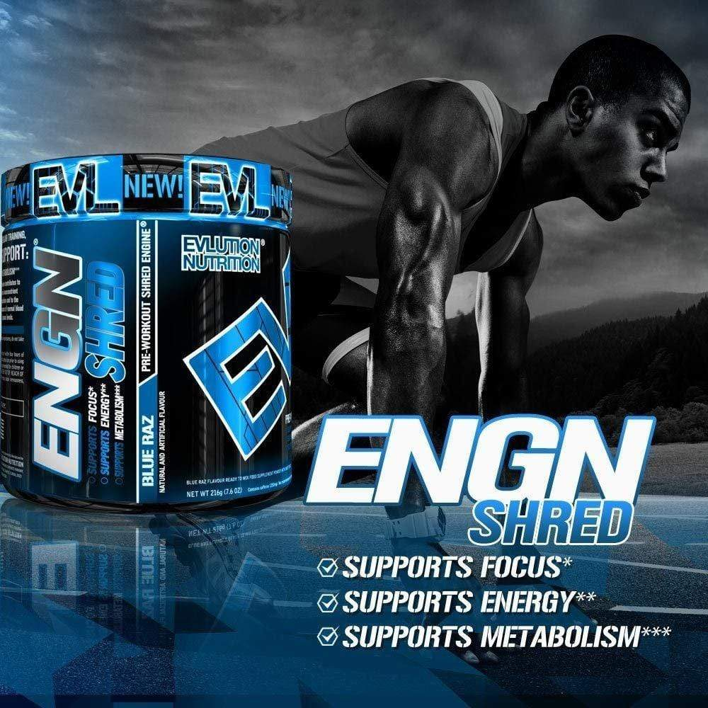 Evlution Nutrition ENGN SHRED Pre Workout Thermogenic Fat Burner (Blue Raz)