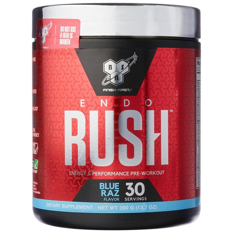 BSN Endorush Blue Raspberry Pre Workout, 390 Grams-Curavita