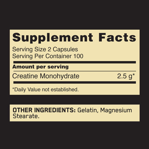 Image of Optimum Nutrition Creatine 2500mg, 200 Capsules-Curavita