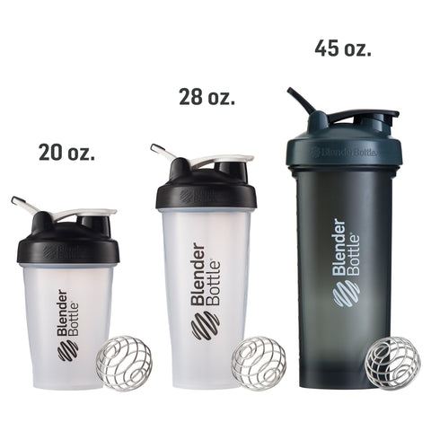 Blender Bottle Pro45 with Loop Handle 1.3Lt Full Colour Grey/Black, 45 oz-Curavita