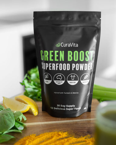 3 x Curavita Green Boost Supergreens Powder - Save 25%