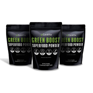 3 pack of curavita super green powder