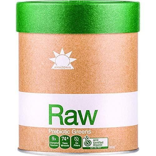 Amazonia Raw Prebiotic Greens, 300 g
