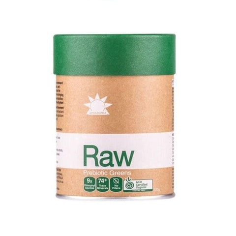 amazonia raw greens prebiotic front label