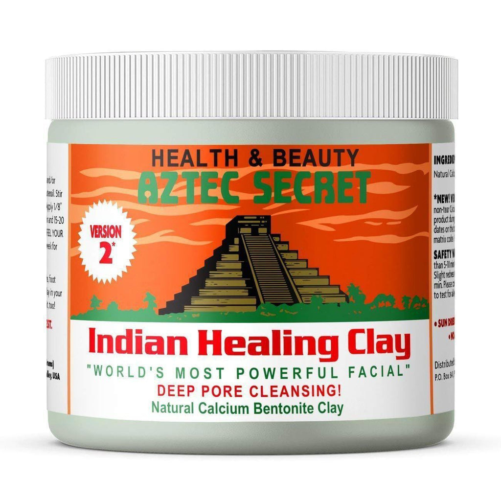 Aztec Secret - Indian Healing Clay - 1 lb. | Deep Pore Cleansing Facial & Body Mask - Version 2-Curavita