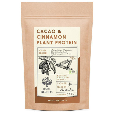 Image of Bare Blends - Cacao & Cinnamon Plant Protein Powder-Curavita
