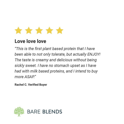 Image of Bare Blends - Vanilla & Coconut Plant Protein Powder-Curavita