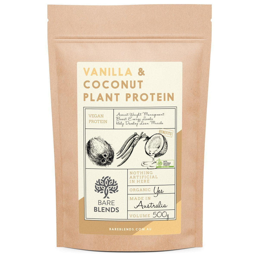 Bare Blends - Vanilla & Coconut Plant Protein Powder-Curavita