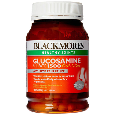 Image of Blackmores Glucosamine Sulfate 1500 One-A-Day (180 Tablets)-Curavita